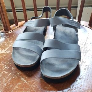 NATO Vintage Slate Leather Sandals